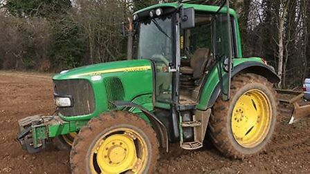 A John Deere 6120 tractor, similar to one stolen from a farm in Narborough, Norfolk. Picture: NORFOL