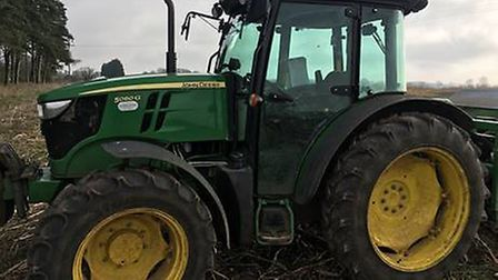 A John Deere 5080 tractor, similar to one stolen from a farm in Narborough, Norfolk. Picture: NORFOL