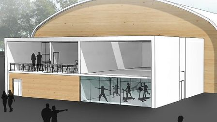 An artist's impression of the proposed sports hub in Cromer. Picture: NNDC