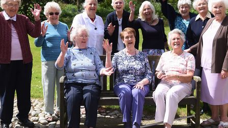 Last year's reunion of the North Walsham Girls' High School class of 1947. From left, front, Betty B