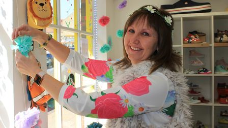 Ali Ewank, of Happy Feet children's shoe shop, was just one of the town traders who decked out their
