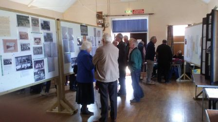 Visitors at the heritage charity event at Gimingham Village Hall. Picture: SUPPLIED BY JUNE COLLINGW