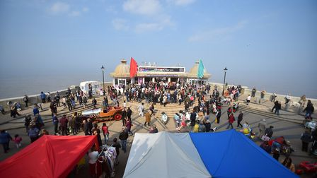 Action from the sixties weekend in Cromer. PICTURE: Jamie Honeywood