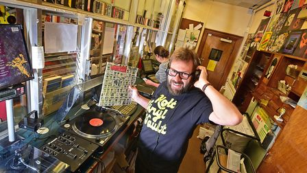Andrew Worsdale, owner of Holt Vinyl Vault, which sadly won't be taking part in Record Store Day in