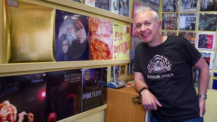 Paul Mills, owner of Soundclash in St Benedict's Street, Norwich. The shop will be the only one in N