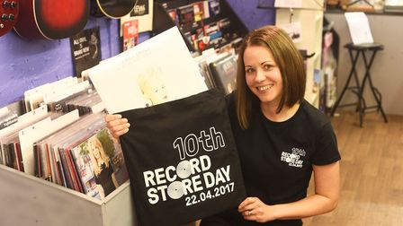 Danielle Welham-Smith at Lewks record shop in Downham Market, which closed in 2018. Picture: Ian Bur