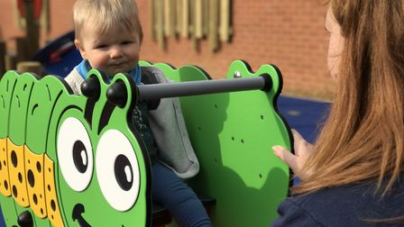 The new outdoor play area at JR's Stomp, Dine, Strike in North Walsham proved popular with parents a
