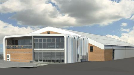 Artist's impression of the sports hub which is due to open in summer 2019. Photo: NNDC