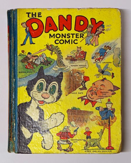 The front cover of the 1939 Dandy Annual. This rare first-edition sold at Keys Fine Art Auctioneers