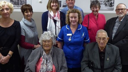 North Walsham War Memorial Hospital friends group members in the revamped day room. Picture: RICHARD