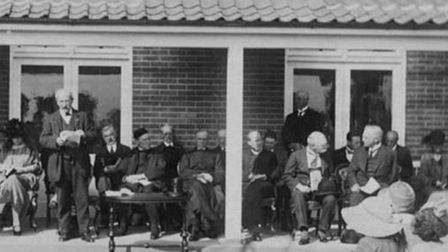 The opening of the North Walsham War Memorial Hospital in 1924. Picture: NORTH WALSHAM AND DISTRICT