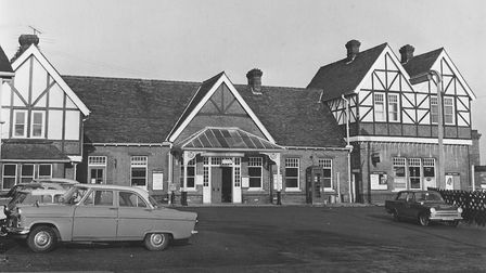 The former Bouncers building, when it was known as Cromer Beach Railway Station, in 1966. Picture: A