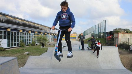 Sheringham's new 'The Strip' skate park, which has opened behind Splash Leisure Centre, on Weybourne