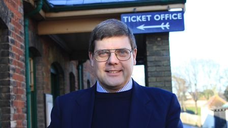 North Norfolk Railway general manager Andrew Munden, who put in a stint as a guard at the attraction