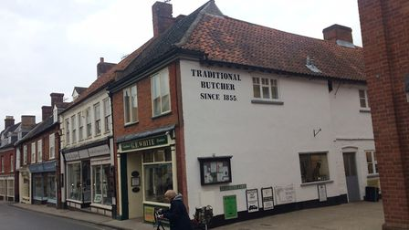 Aylsham named in top 10 in East for places to live. GF White butchers. Pictures: David Bale