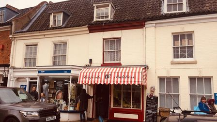 Aylsham named in top 10 in East for places to live. Coxford's butchers. Pictures: David Bale