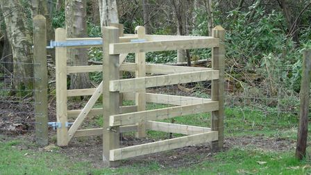 The kissing gate on the Mannington Estate. Picture: supplied by Ian Mitchell