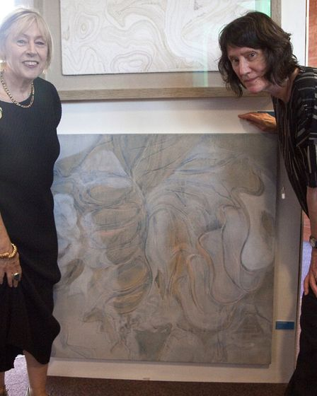 Last year. Eileen Cooper (black dress) with Frances Blythe and winning entry_The Photographers Galle