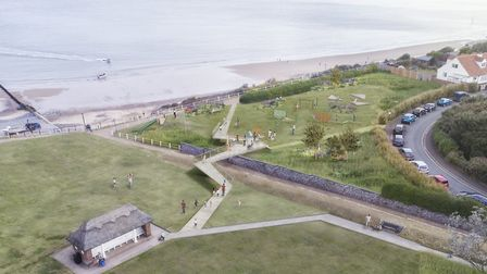 Artist's impression of how North Lodge Park in Cromer could look after the revamp. Picture: Friends