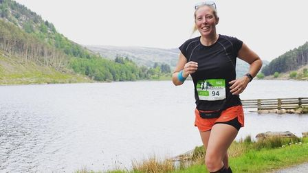Kate Berry during a half marathon in Snowdonia in 2018. Photo: Kate Berry
