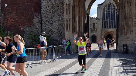 Kate Berry taking part in Run Norwich in 2017. Photo: Kate Berry