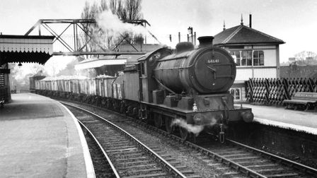 North Walsham Railway Station in 1959, on the old Broads railway, Norfolk. Picture: MEMBERS OF THE M