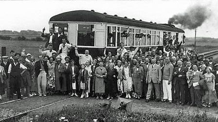 The Caister Camp Tantivy on the old Broads railway, Norfolk. Picture: MEMBERS OF THE M&GN CIRCLE