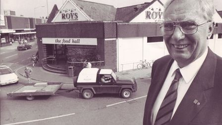 Roys of Wroxham, Red Roy outside the shop - 16/03/93 Picture by H NaylonFrom archive