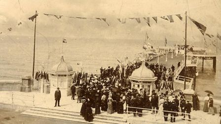 The opeing of Cromer Pier in 1901. Some people believe piers are gateways to the spirit world, and C