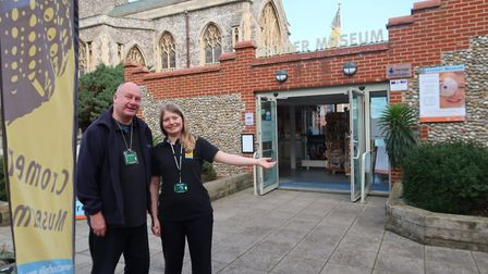 Alan Tutt and Anna Crane, visitor services assistants at Cromer Museum, which runs ghost walks aroun
