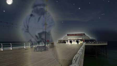 Is this a visitor from the paranormal realm on Cromer's famous pier?