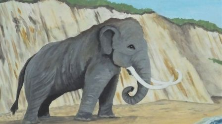 The West Runton Mammoth, which features on the village sign. Picture: DR ANDREW TULLETT
