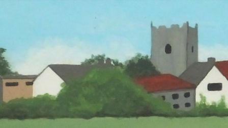 West Runton, on the north Norfolk coast, depicted on the village sign. Picture: DR ANDREW TULLETT