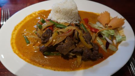 The Panaeng curry - Thai 'dry curry' with beef (£10.95) at the New Forge in Aylsham. Picture: STUART