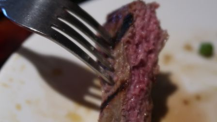 A juicy piece of medium rare sirloin steak at the New Forge in Aylsham. Picture: STUART ANDERSON