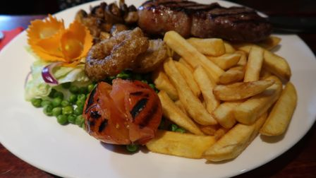 The 10oz sirloin steak (£14.95) at the New Forge in Aylsham. Picture: STUART ANDERSON