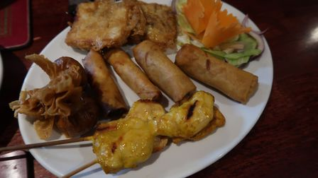 The mixed Thai starters (£4.95 per person) at the New Forge in Aylsham. Picture: STUART ANDERSON