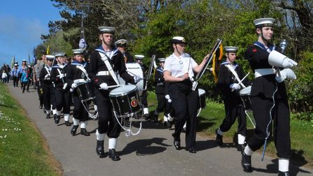 Great Yarmouth Sea Cadets marching band leading the parade.Picture: ANDREAS YIASIMI