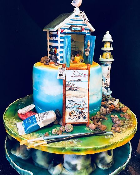 A cake creation of Ema Scott Rowlands, who, with her husband Laurie, is going full-time with their D