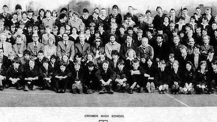 Cromer High School line-up in 1981. Pictures: Cromer Academy