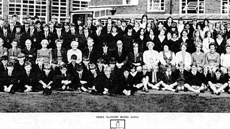 Cromer Secondary Modern School line-up photo from 1970. Pictures: Cromer Academy