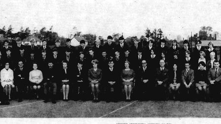 Cromer Secondary Modern School line-up from 1967. Pictures: Cromer Academy