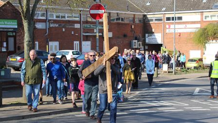 Walk of Witness in North Walsham. Pictures: Sandy Topham