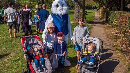 Part of the fun at the Easter egg hunt North Walsham's Memorial Park on Saturday, organised by North