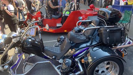 Mean machines on display at North Walsham's first-ever Bike and Trike Show. Picture: STUART ANDERSON