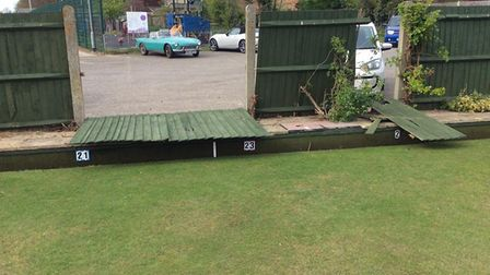 Criminal damage at Aylsham Bowls Club is under investigation by Norfolk Police. Photo: Ronnie Roshie