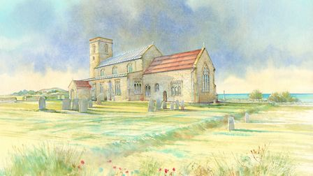 John Hurst's painting of Beeston church. Picture: supplied by Martin Braybrook