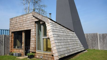 The quirky Smokehaus by the Lodge at the Top Farm camping and glamping site at Marsham. Picture: DEN