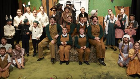 The cast of Wind in the Willows at Sheringham Little Theatre. Picture: ANDI SAPEY