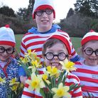 Youngsters pose for a photo at last year's Where's Wally event at Stody Lodge Gardens, near Holt.Pic